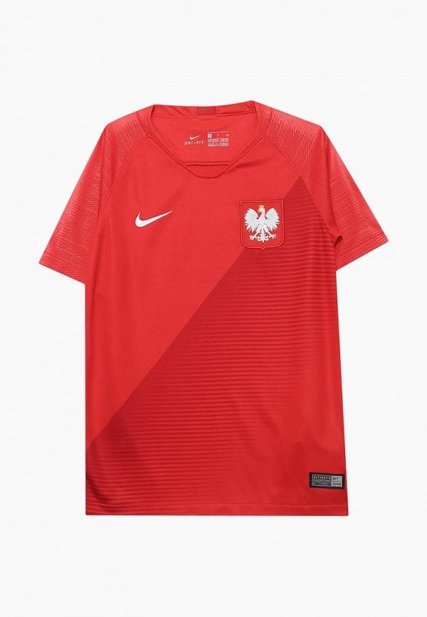 спортивные футболка nike малыши, красная