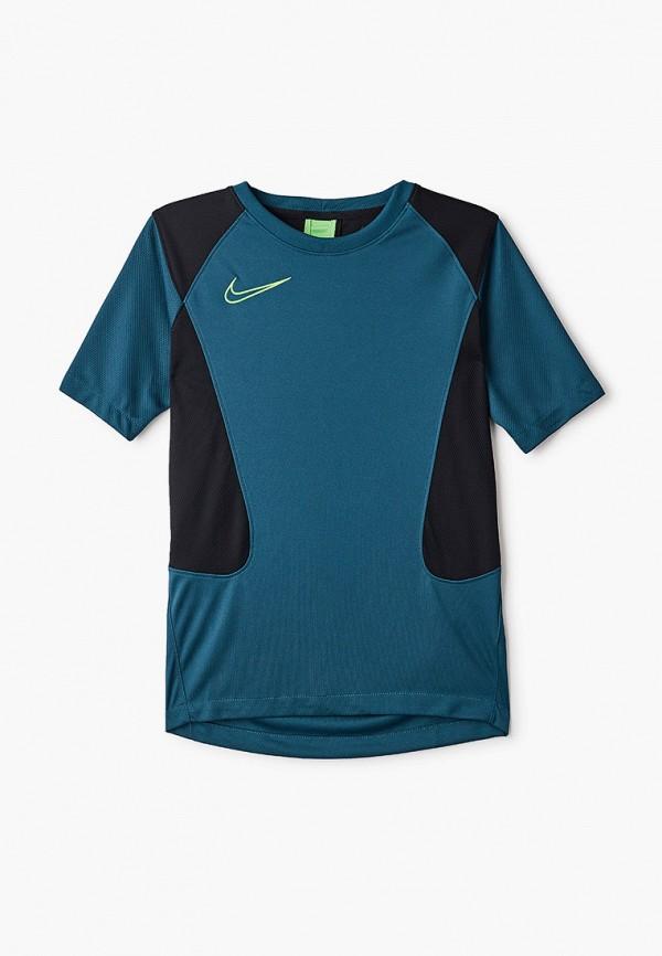 футболка с коротким рукавом nike малыши, зеленая