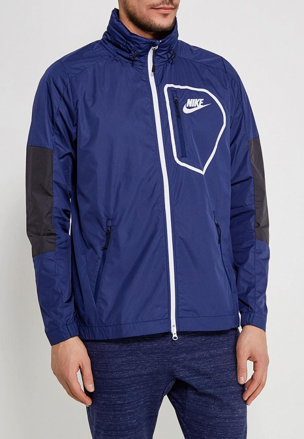 Куртка Nike, M NSW AV15 JKT HD WVN, ni464emaaby5, синий, Весна-лето 2018  - купить со скидкой