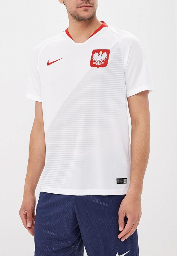 Купить Футболка спортивная Nike, Nike Breathe Poland Home Stadium Men's Short-Sleeve Jersey, ni464emarqn5, белый, Осень-зима 2018/2019