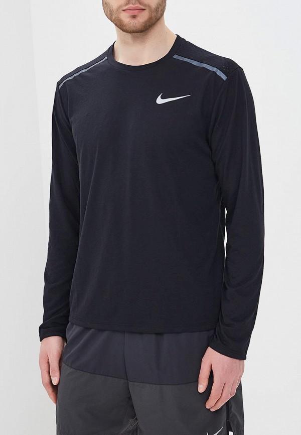 Купить Лонгслив спортивный Nike, Men's Nike Rise 365 Running Top, NI464EMBBJI3, черный, Весна-лето 2018