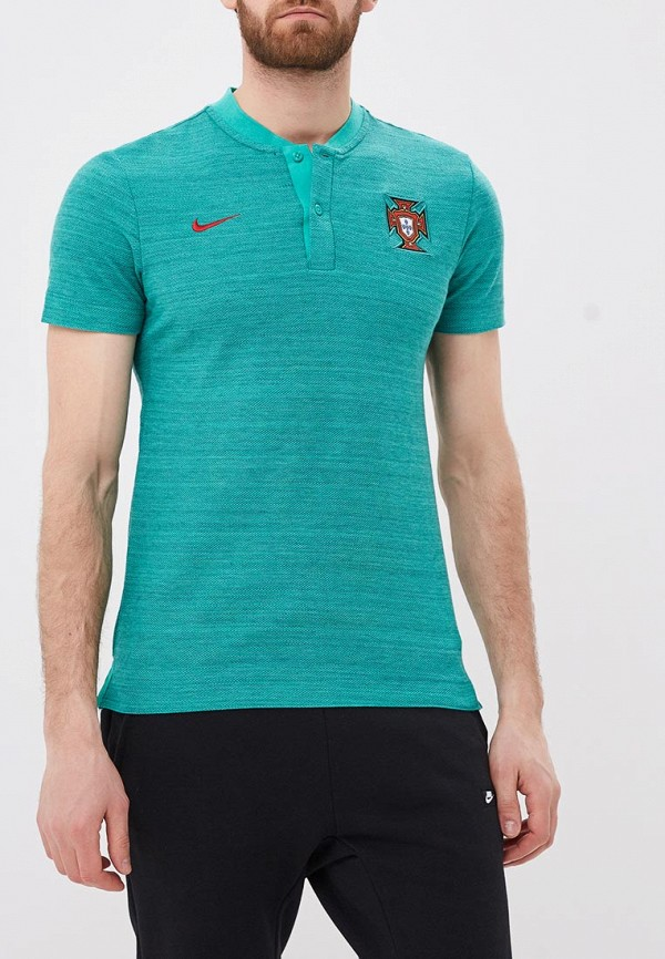 Купить Поло Nike, Nike Sportswear Portugal Men's Grand Slam Polo, NI464EMBBJI7, бирюзовый, Весна-лето 2018