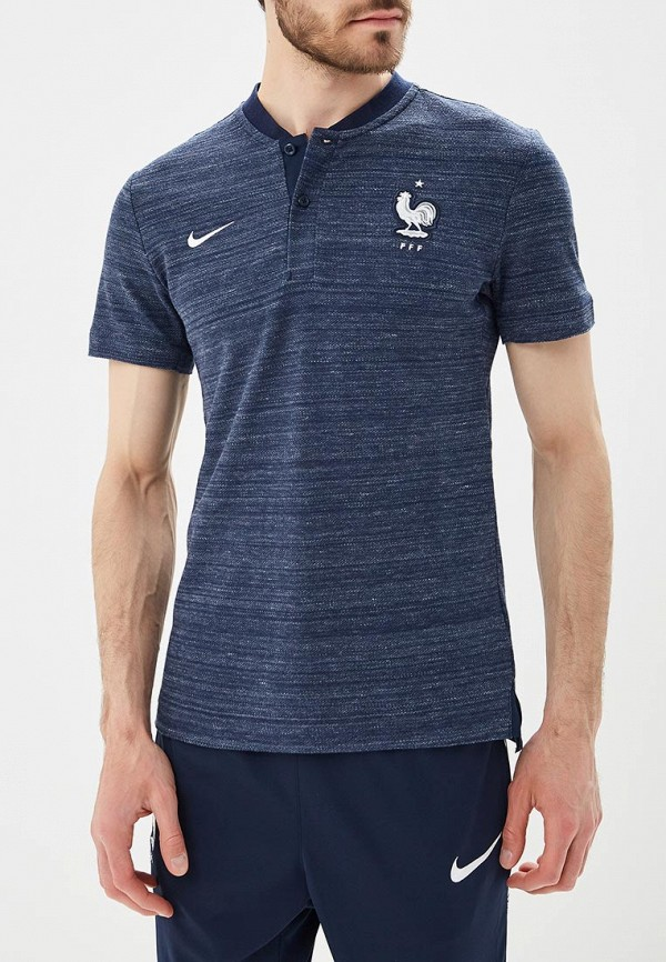 Купить Поло Nike, Nike Sportswear FFF Men's Grand Slam Polo, NI464EMBBJV8, синий, Весна-лето 2018