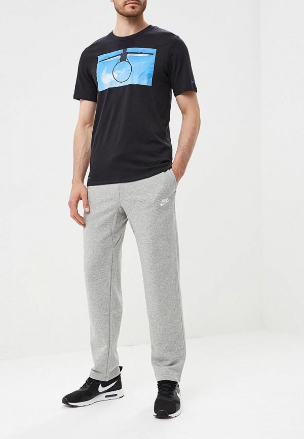 Фото 3 - Брюки спортивные Nike серого цвета