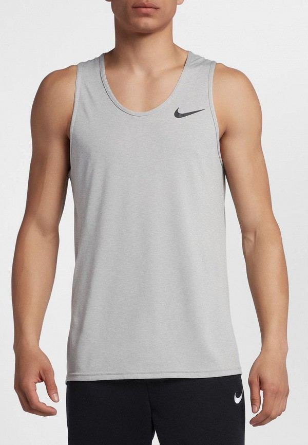 Купить Майка спортивная Nike, Nike Breathe Men's Training Tank, ni464embwdk8, серый, Осень-зима 2018/2019