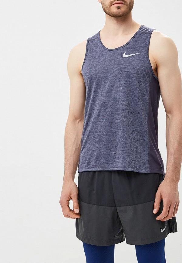 Купить Майка спортивная Nike, Men's Nike Miler Running Tank, ni464embwdl5, синий, Осень-зима 2018/2019