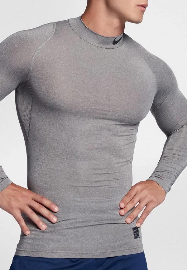 Фото - Лонгслив компрессионный Nike серого цвета