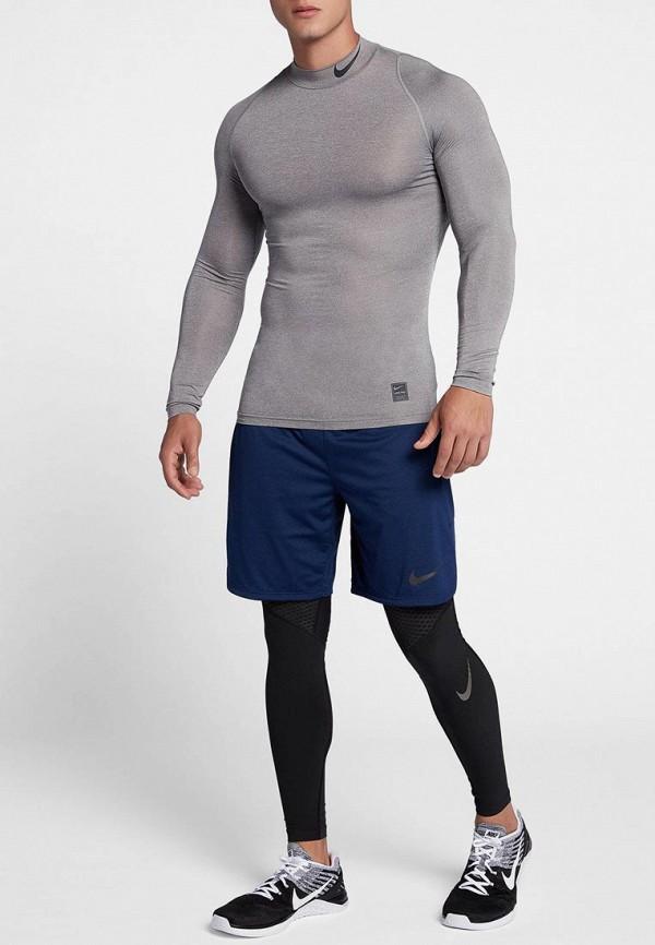 Фото 2 - Лонгслив компрессионный Nike серого цвета