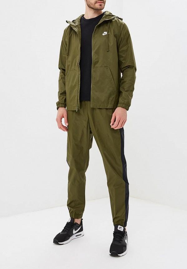 Купить Костюм спортивный Nike, Nike Sportswear Men's Woven Hooded Track Suit, ni464embwht4, хаки, Осень-зима 2018/2019