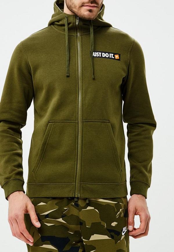 Купить Толстовка Nike, Nike Sportswear Men's Full-Zip Fleece Hoodie, ni464embwic4, хаки, Осень-зима 2018/2019
