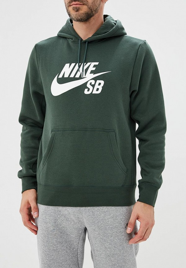 Купить Худи Nike, M NK SB ICON HOODIE PO ESSNL, NI464EMBWIO8, зеленый, Осень-зима 2018/2019