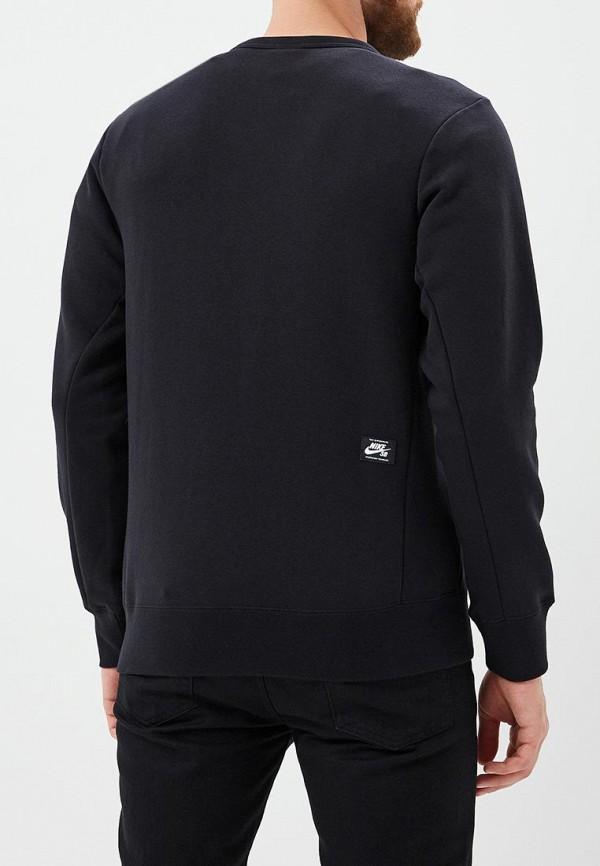 Фото 4 - Свитшот Nike черного цвета