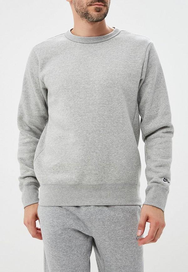 Купить Свитшот Nike, M NK SB CREW ICON FLC ESSNL, NI464EMBWIP1, серый, Осень-зима 2018/2019