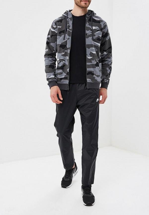 Фото 6 - мужскую толстовку Nike серого цвета