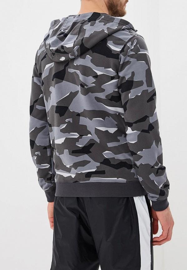 Фото 4 - мужскую толстовку Nike серого цвета