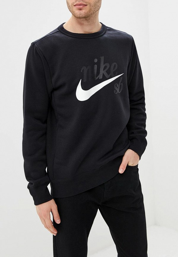 Купить Свитшот Nike, M NK SB TOP ICON CRAFT, ni464emcmjn9, черный, Осень-зима 2018/2019