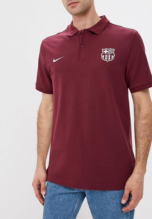 Купить Поло Nike, FCB M NSW POLO PQ CRE CL, NI464EMCMJV2, бордовый, Осень-зима 2018/2019