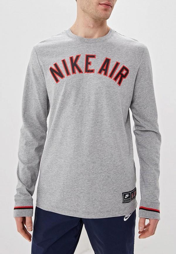 Купить Лонгслив Nike, M NSW TEE LS CLTR NIKE AIR 1, ni464emdneo5, серый, Весна-лето 2019