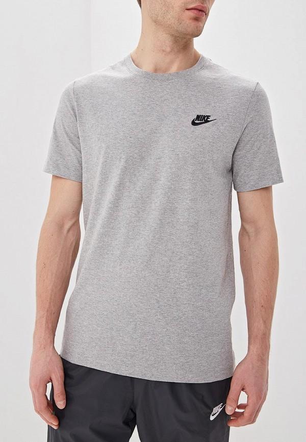 Купить Футболка Nike, M NSW CLUB TEE, ni464emdneu4, серый, Весна-лето 2019