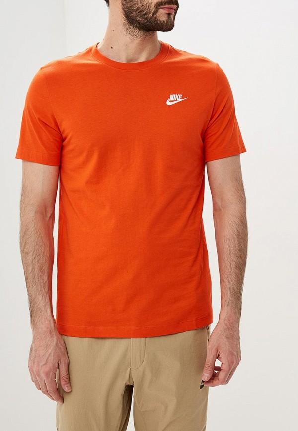 Купить Футболка Nike, M NSW CLUB TEE, ni464emdnev1, оранжевый, Весна-лето 2019