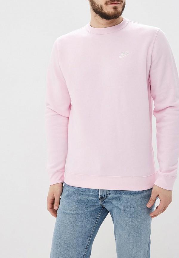 Купить Свитшот Nike, M NSW CLUB CRW BB, ni464emetpw0, розовый, Весна-лето 2019