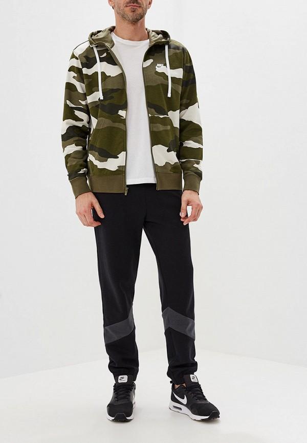 Фото 2 - мужскую толстовку Nike цвета хаки