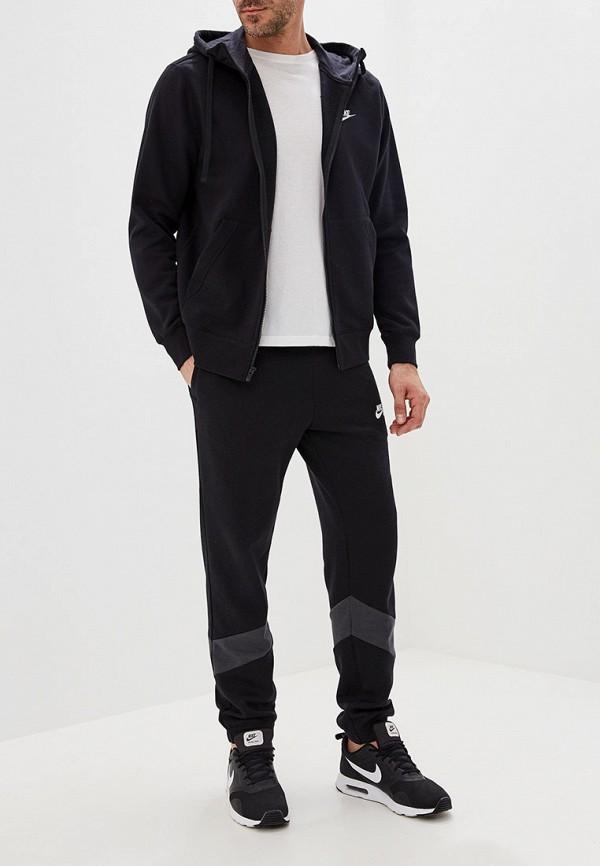 Фото 2 - мужскую толстовку Nike черного цвета