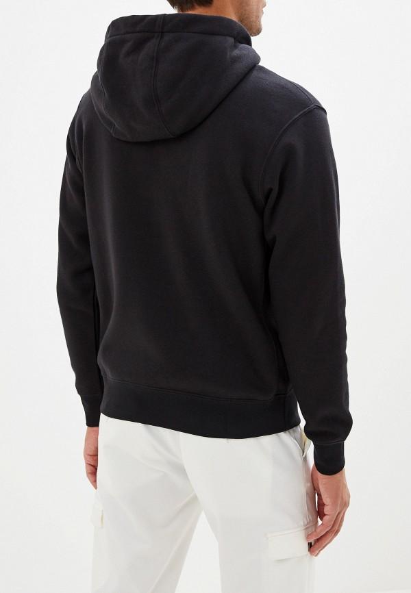 Фото 3 - мужскую толстовку Nike черного цвета