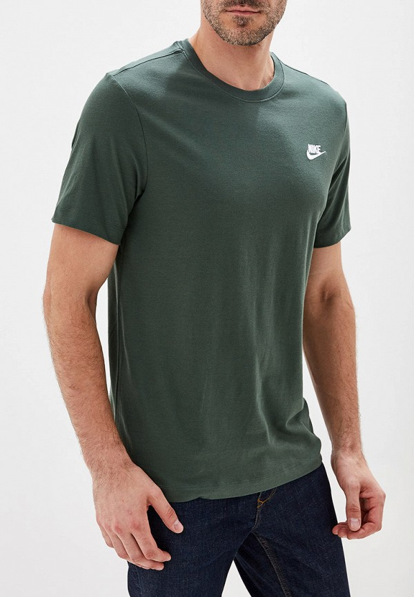 Фото - мужскую футболку Nike цвета хаки