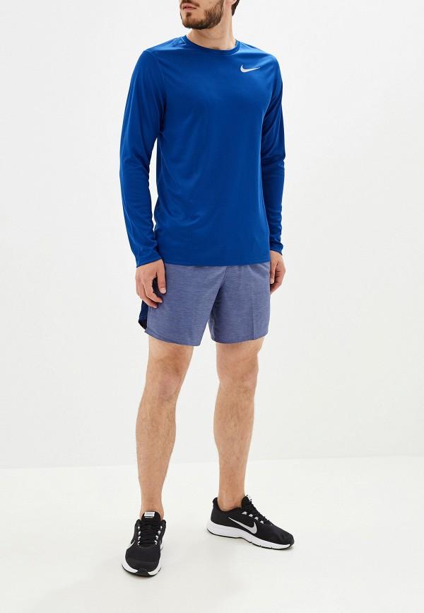 Фото 2 - Шорты спортивные Nike синего цвета