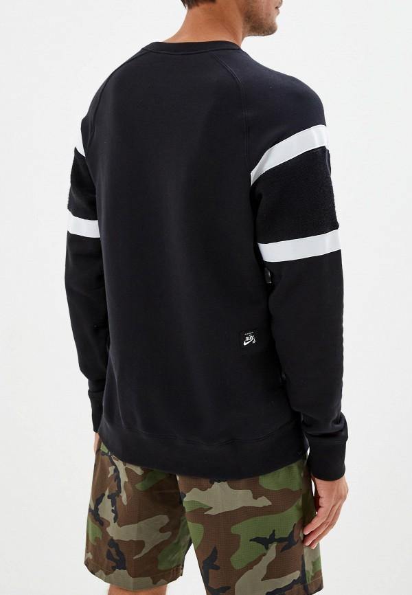 Фото 3 - Свитшот Nike черного цвета