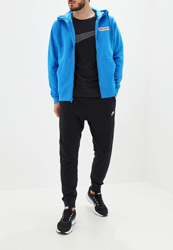 Фото 2 - мужскую толстовку Nike голубого цвета