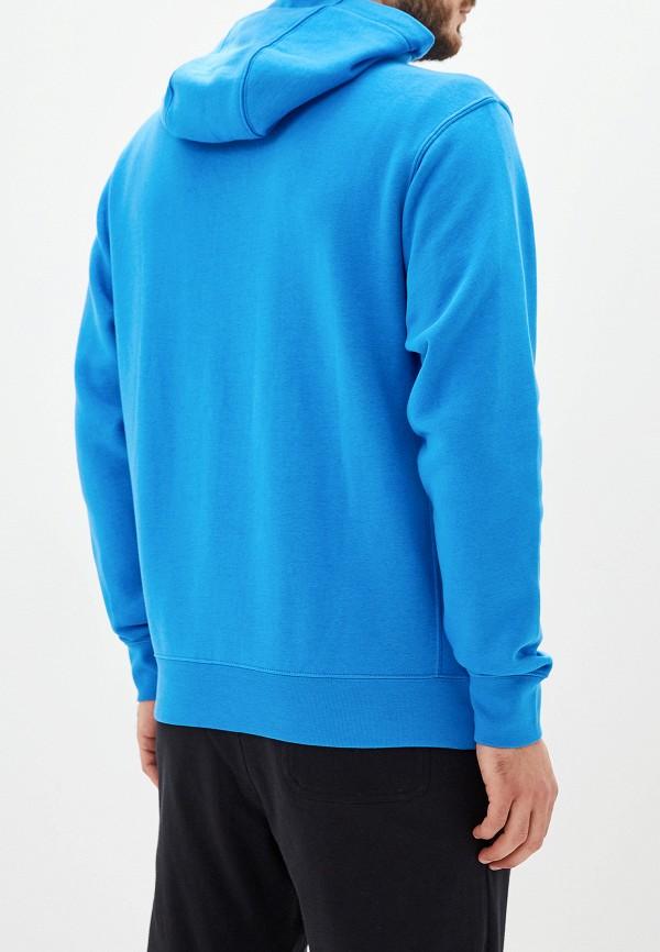 Фото 3 - мужскую толстовку Nike голубого цвета