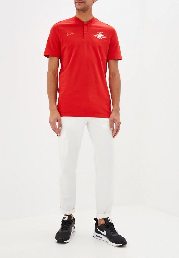 Фото 2 - Поло Nike красного цвета