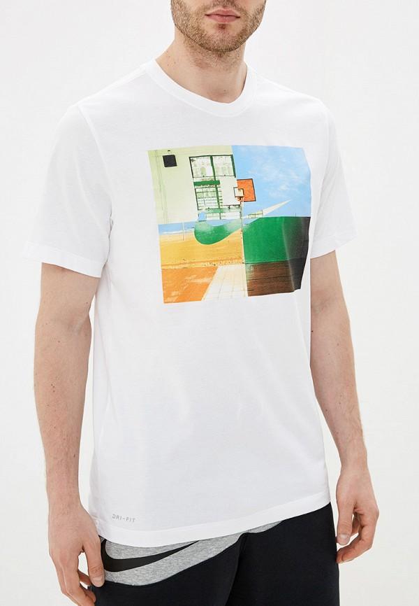 Купить мужскую футболку Nike белого цвета