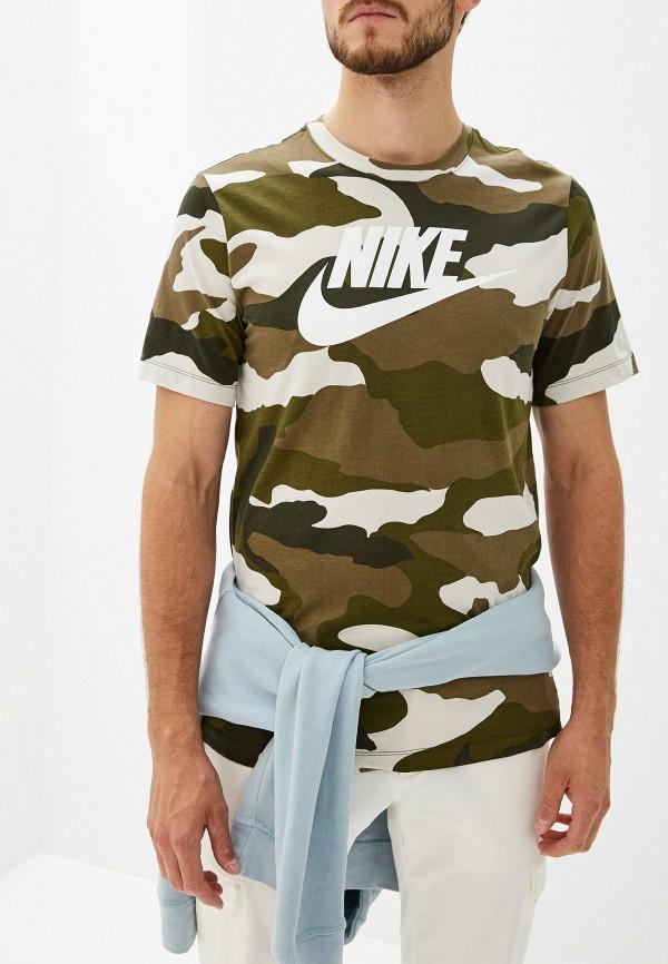 мужская спортивные футболка nike, хаки