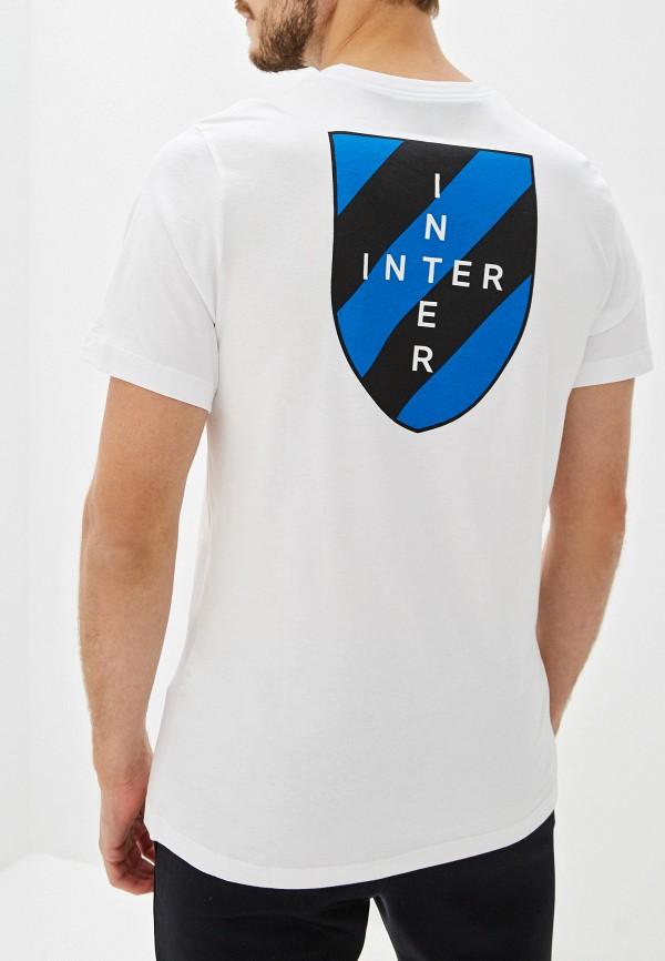 Фото 3 - мужскую футболку Nike белого цвета