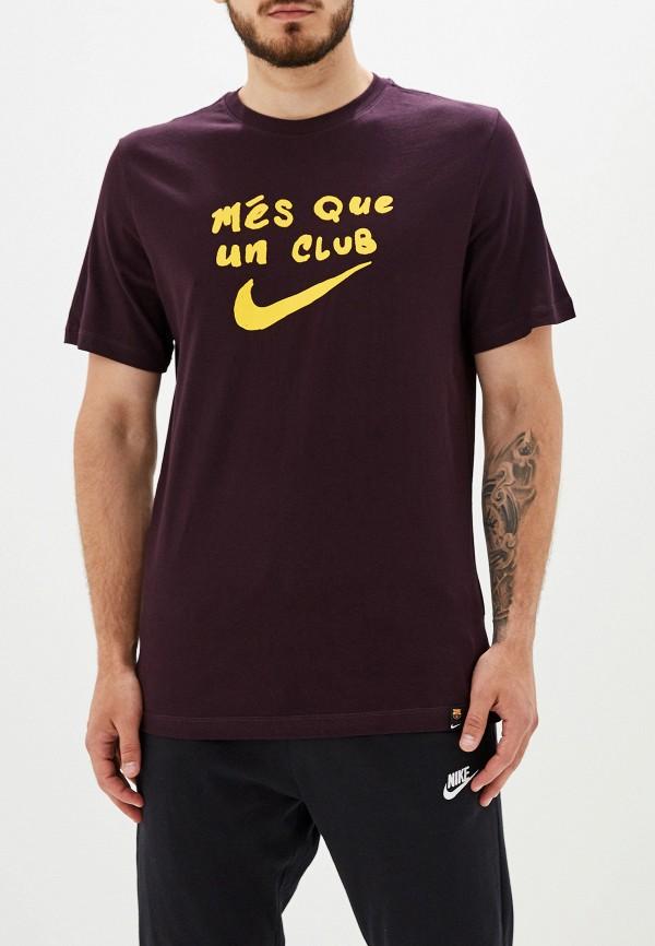 Фото - мужскую футболку Nike бордового цвета