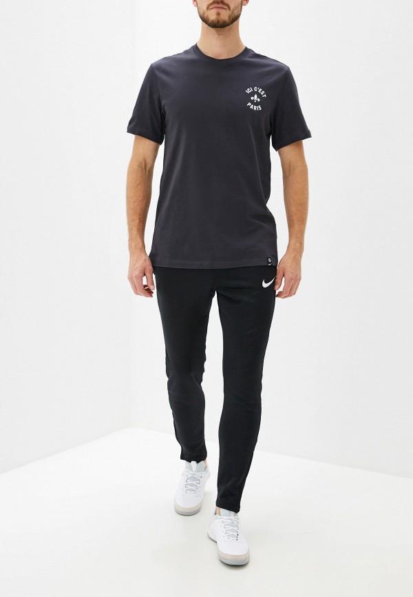 Фото 2 - мужскую футболку Nike серебрянного цвета