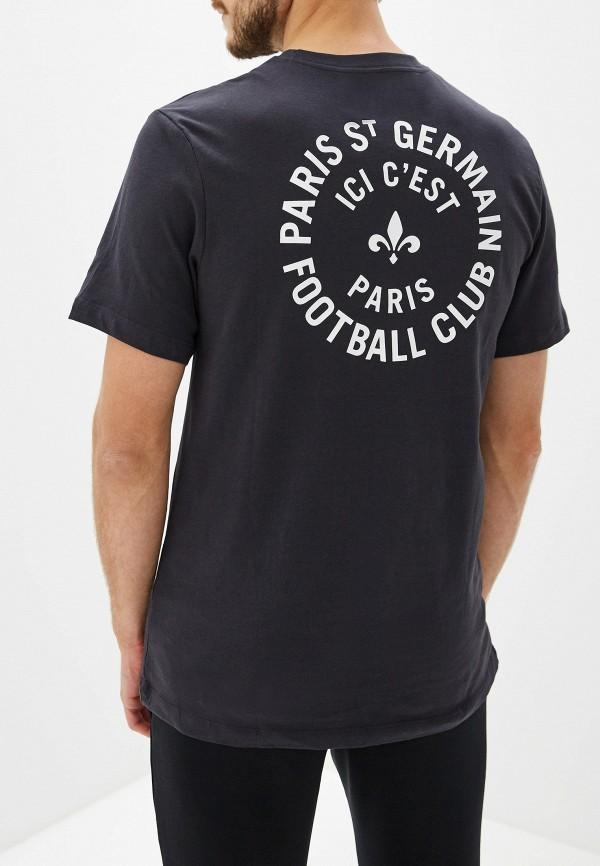Фото 3 - мужскую футболку Nike серебрянного цвета