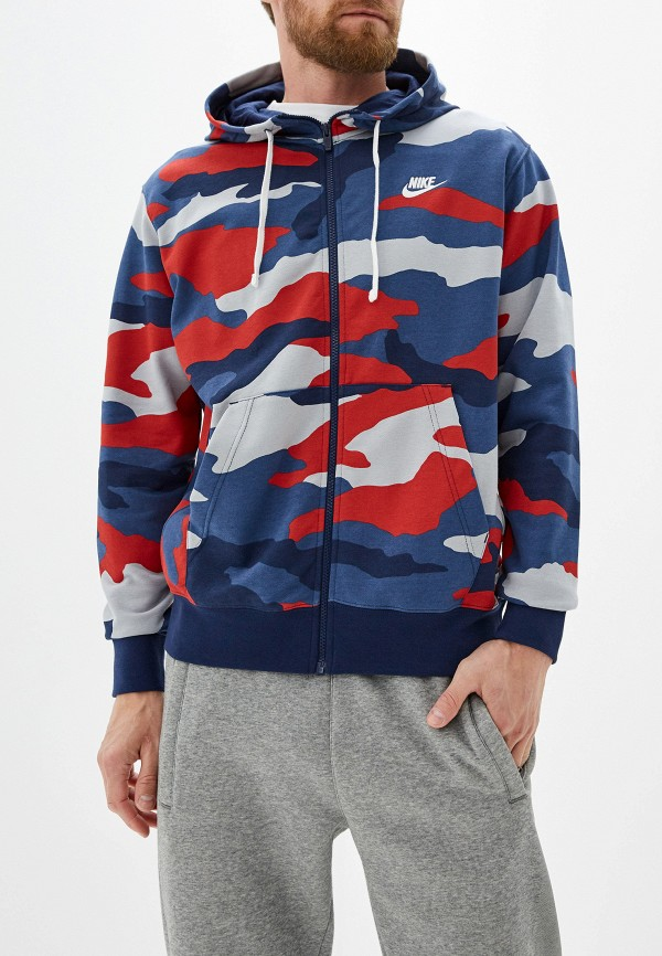 Фото - мужскую толстовку Nike синего цвета