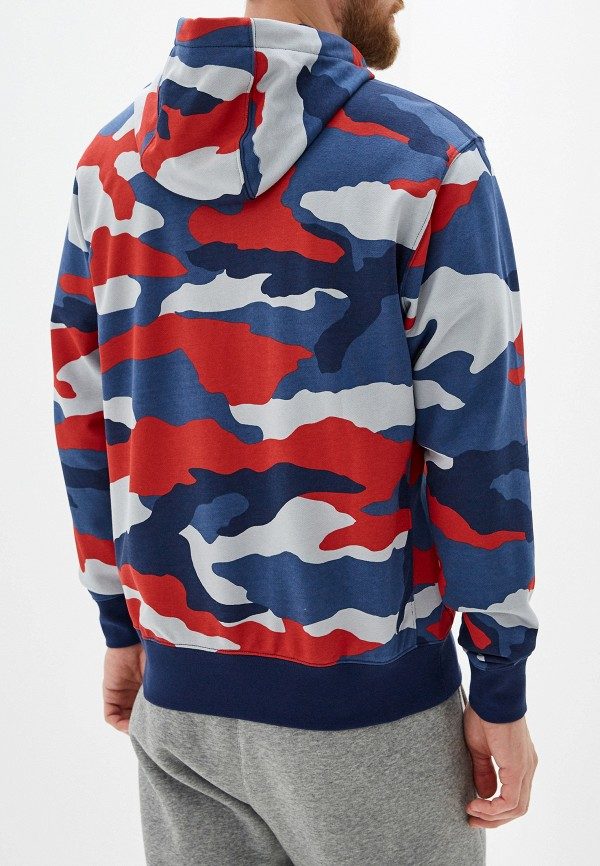 Фото 3 - мужскую толстовку Nike синего цвета