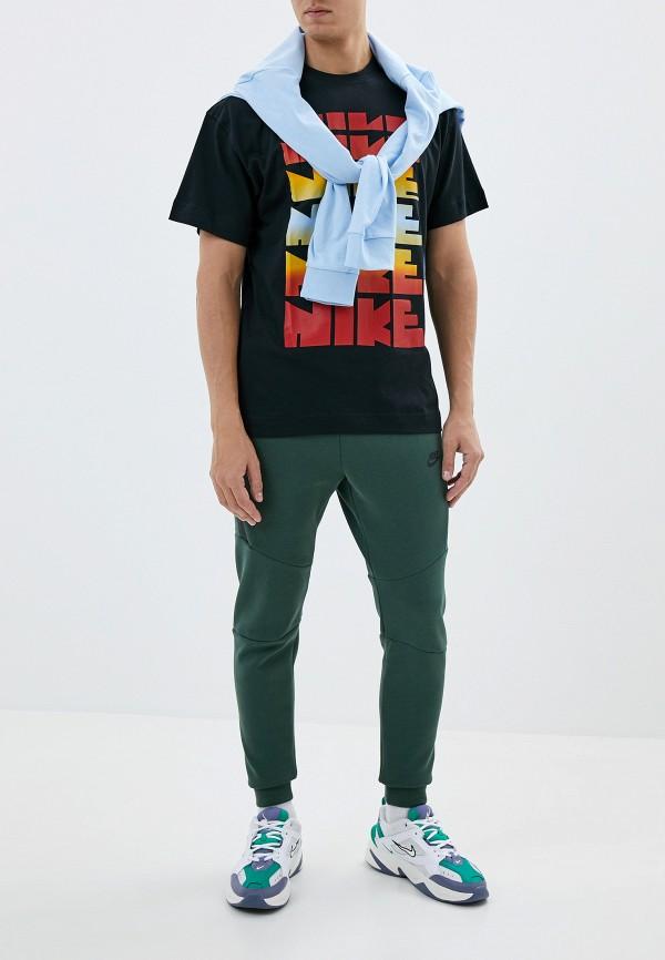 Фото 2 - мужскую футболку Nike черного цвета