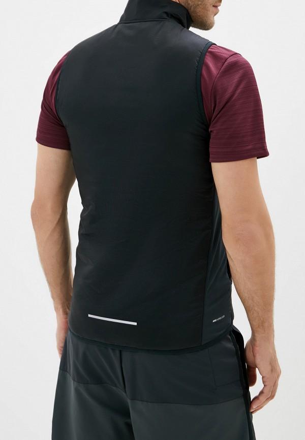 Фото 3 - Жилет утепленный Nike черного цвета