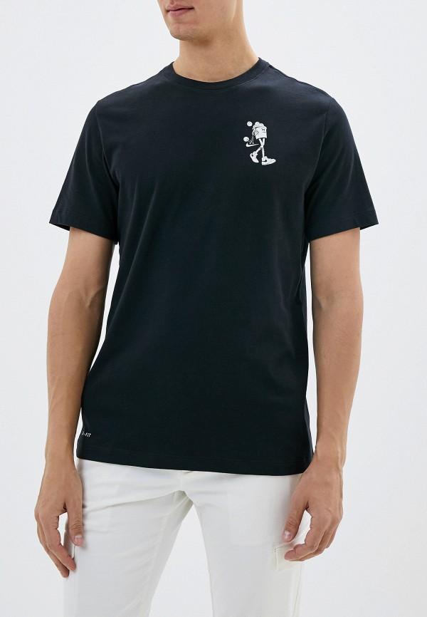 Фото - мужскую футболку Nike черного цвета