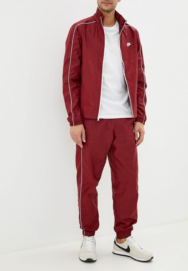 мужской спортивный костюм nike, бордовый