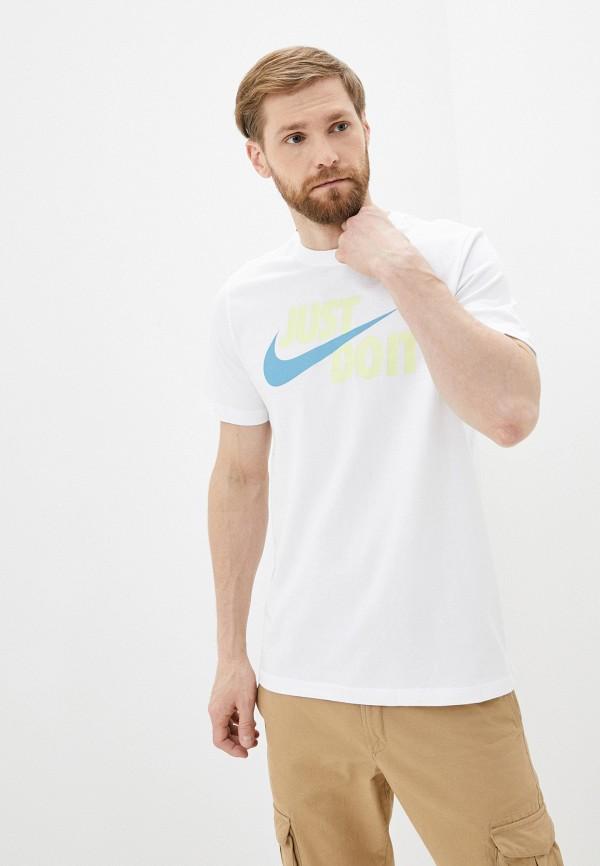 мужская футболка с коротким рукавом nike, белая