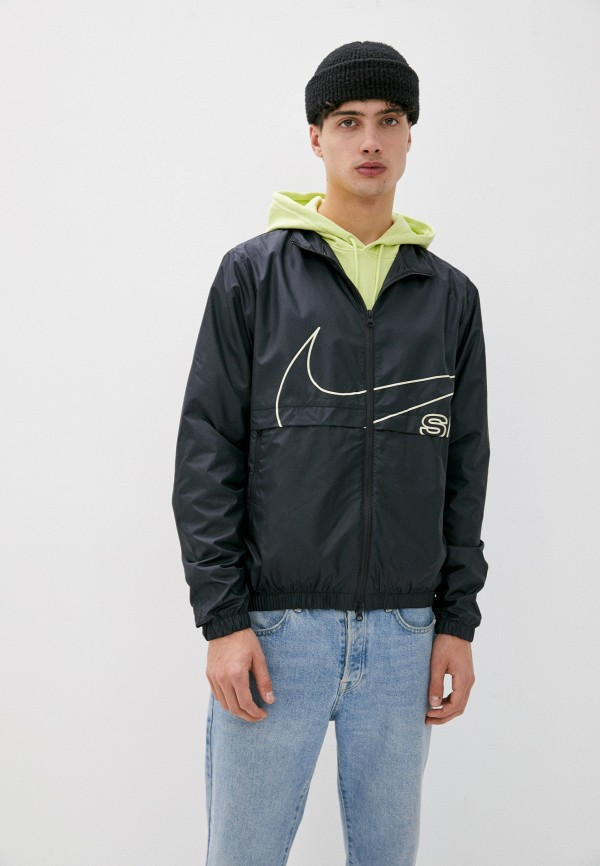 мужская спортивные куртка nike, черная