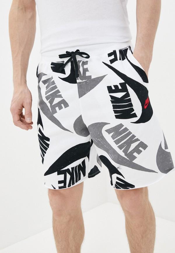 мужские повседневные шорты nike, белые