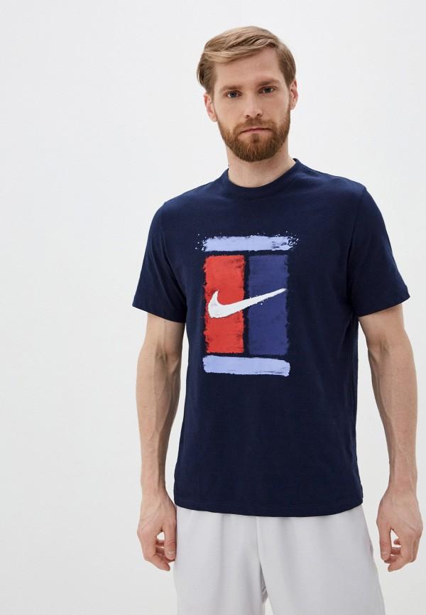 мужская футболка nike, синяя